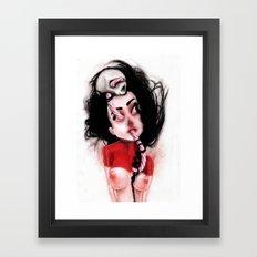 Candy Cane Blood Framed Art Print