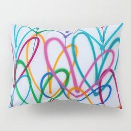 Multicoloured Love Hearts Graffiti Repeat Pattern Pillow Sham