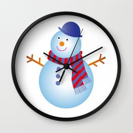 SNOW MAN Wall Clock