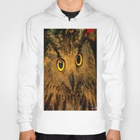 owls Hoodies featuring Owls by Ganech joe
