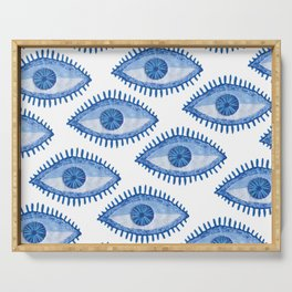 Embroidered evil Eyes Serving Tray