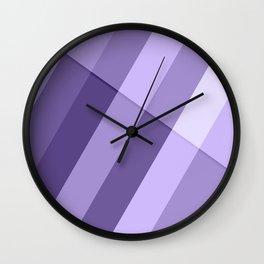 Ultra violet purple modern geometric lines Wall Clock