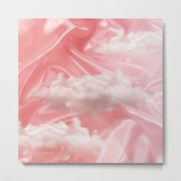 """Pink pastel sweet heaven and clouds"" Metal Print"
