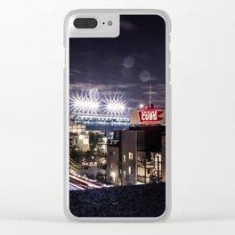 Wrigley Field Long Clear iPhone Case