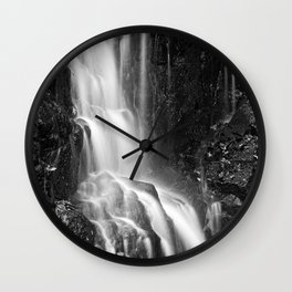 Avalon Falls - Black & White Wall Clock