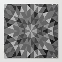 gray pattern Canvas Prints featuring Gray Pattern by 2sweet4words Designs