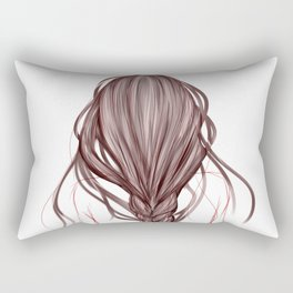 The Brown Hair Girl Rectangular Pillow