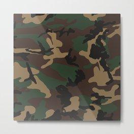 Camouflage Metal Print