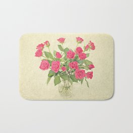 Bouquet of Roses Bath Mat