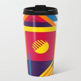 Abstract modern geometric background. Composition 19 Metal Travel Mug