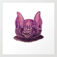 mouse Art Prints featuring mouse by KrisLeov