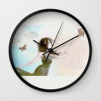 origami Wall Clocks featuring Origami by CokecinL