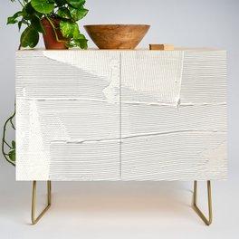 Relief [1]: an abstract, textured piece in white by Alyssa Hamilton Art Credenza