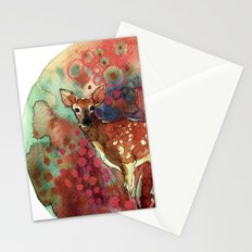 watercolor deer Stationery Cards