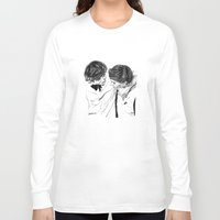 larry Long Sleeve T-shirts featuring Larry hugging by Drawpassionn