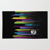 night sky Area & Throw Rugs featuring Night Sky by Li.Ro.Vi