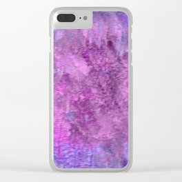 Pink and purple rough texture Clear iPhone Case