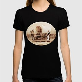 Old West Cowboy Cat and his Gal T-shirt
