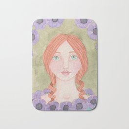 Anemone Girl Bath Mat