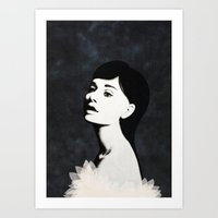 audrey Art Prints featuring Audrey by EISENHART