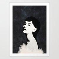 audrey Art Prints featuring Audrey by EISENHART