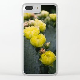 Cactus Blooms II Clear iPhone Case