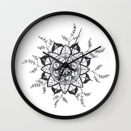 Mandala in Nature Wall Clock