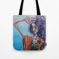 mirror Tote Bags featuring Mirror by Katy Dai