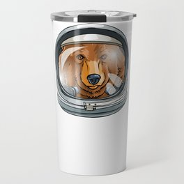 I Need More Space Astronaut Bear Outserspace Science Geek Travel Mug