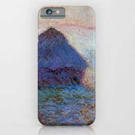 Claude Monet Grainstack, Sun in the Mist iPhone Case