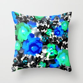 Blue Blue Blue Throw Pillow