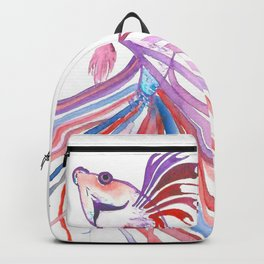 Watercolor Fighting Fish Backpack