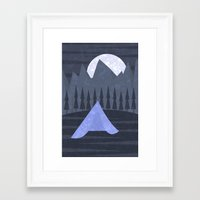 camping Framed Art Prints featuring Camping by Illusorium