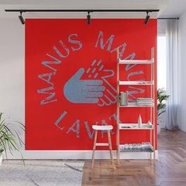 Manus Manum Lavat Blue II - Wash your Hands Wall Mural