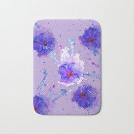 Violet Watercolor Flower Bath Mat