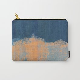 Summer Beach Abstract | Orange Blue Painting Carry-All Pouch
