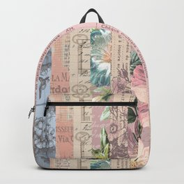 Vintage Shabby Florals Backpack