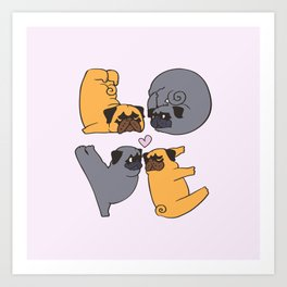 Pug Yoga of Love Art Print