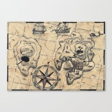 Old Nautical Map Canvas Print