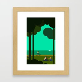 Lakeshore Drive Summer. Framed Art Print
