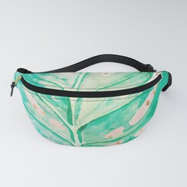 Leaf plant with golden points Fanny Pack