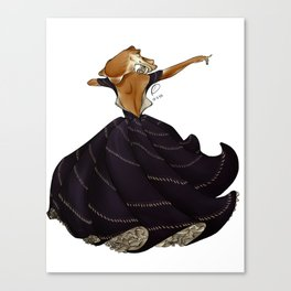 Dances of cuttlefish. Canvas Print