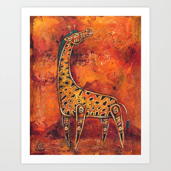 Giraffe I Art Print