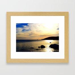 yellow sunset Framed Art Print
