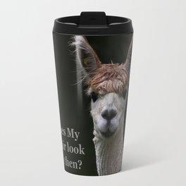 Funny hairstyle alpaca Travel Mug