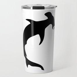 Bullhead Shark Silhouette Travel Mug
