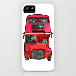 The big red bus. (Painting) iPhone Case