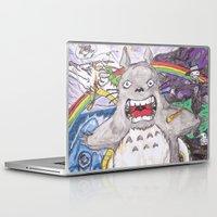 hayao miyazaki Laptop & iPad Skins featuring Miyazaki Mash-Up by Loveless D. Grim