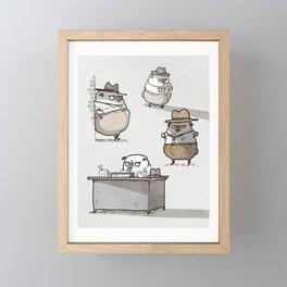 Fetch Ketchum, Pug Private Eye Framed Mini Art Print