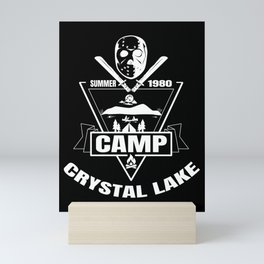 Camp Crystal Lake | Funny 80s Horror Movie Fan Mini Art Print